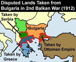 Map Of Disputed Lands Taken From Bulgaria In The Nd Balkan War - Map of us holdings 1912