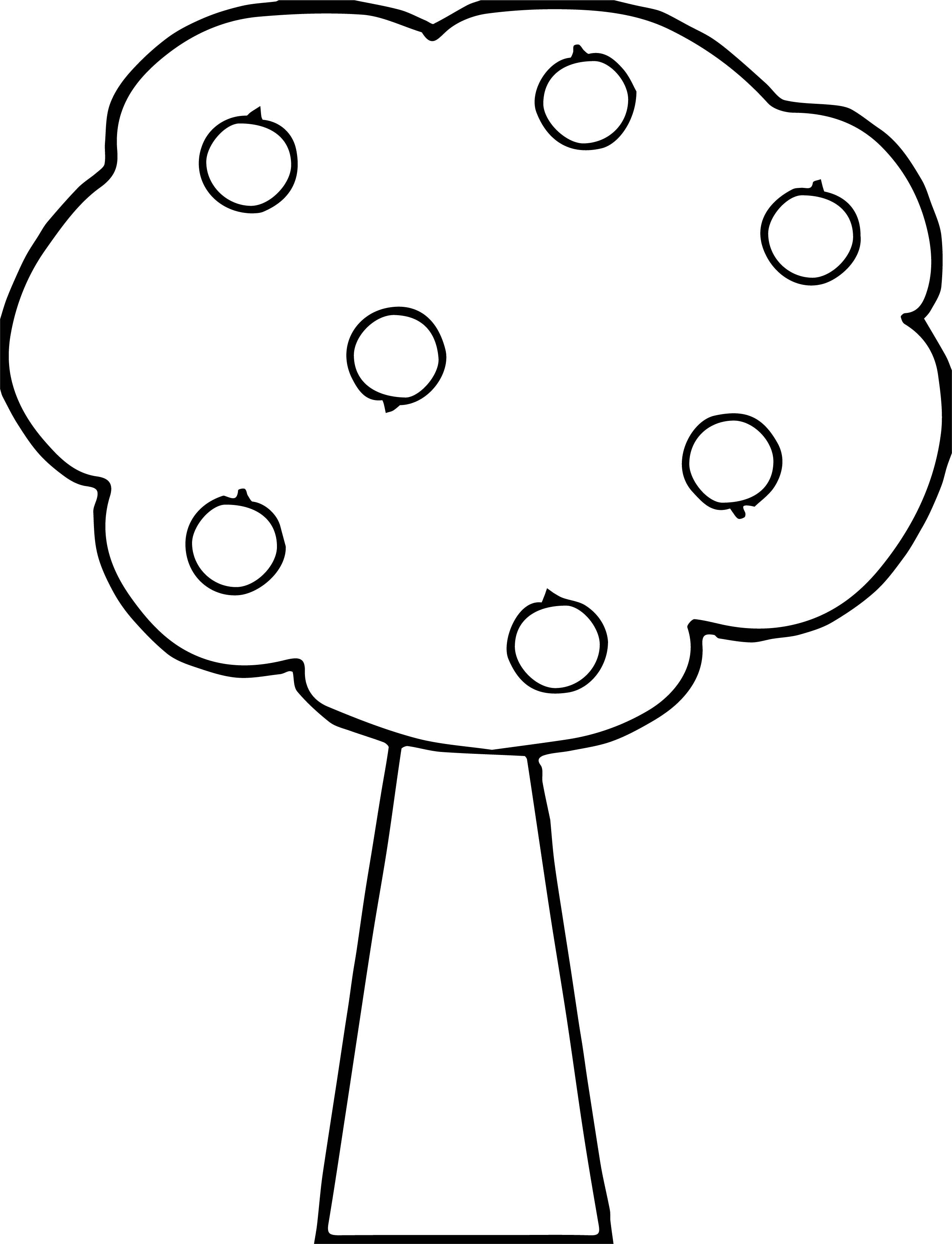 Good Apple Tree Coloring Pages   wecoloringpage   Pinterest   Apples