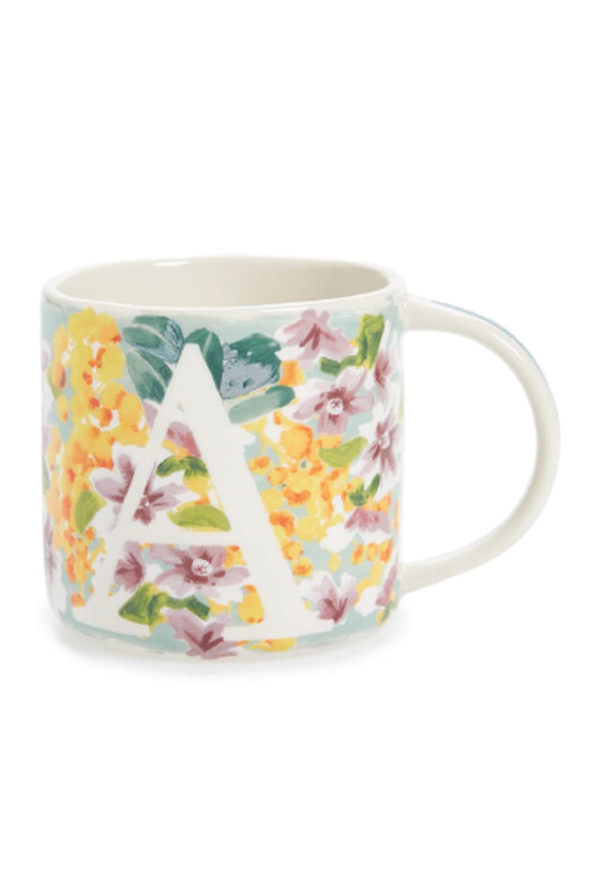 Anthropologie Dawn Monogram Coffee Mug Mugs