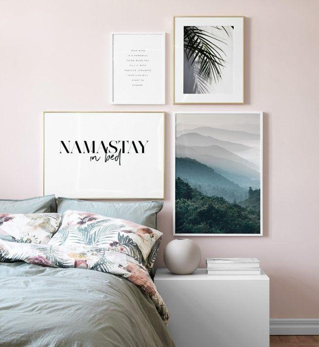 Bedroom Inspiration Posters And Art Prints In Picture Walls And Collages Slaapkamer Posters Fotolijstjes Aan De Muur Fotowand
