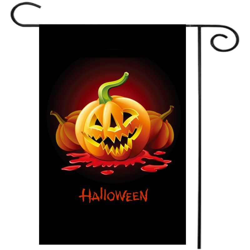 Garden Flag Primitive Jack Pumpkin'Lanterns Halloween 12'' x 18'' Flag Home Kids Bedroom Party Decor Best Gift