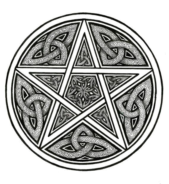 Pin By Philippe Raucroix On Pyrography Ideas Pentacle Art Wiccan Symbols Celtic Knotwork