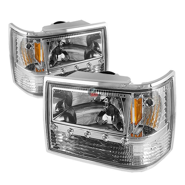 93 98 Jeep Grand Cherokee 1pc Led Headlights With Xenon Hid Lighting System Pair Chrome