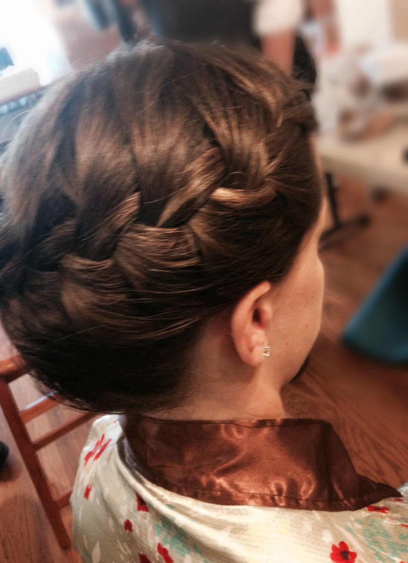 French side braid updo hairstyles beautiful short hair medium