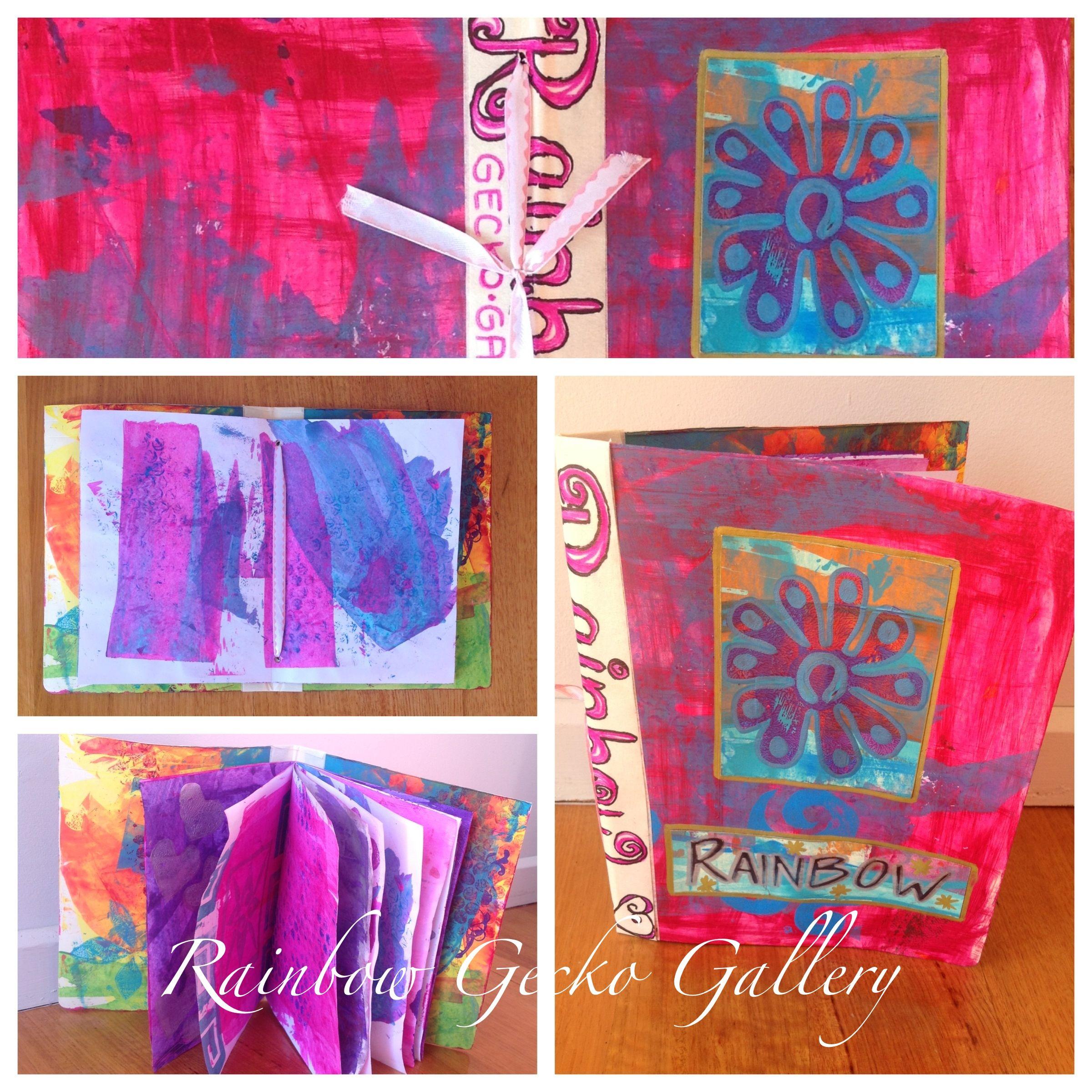 Handmade Art Journal/Notebooks  www.etsy.com/shop/RainbowGeckoGallery