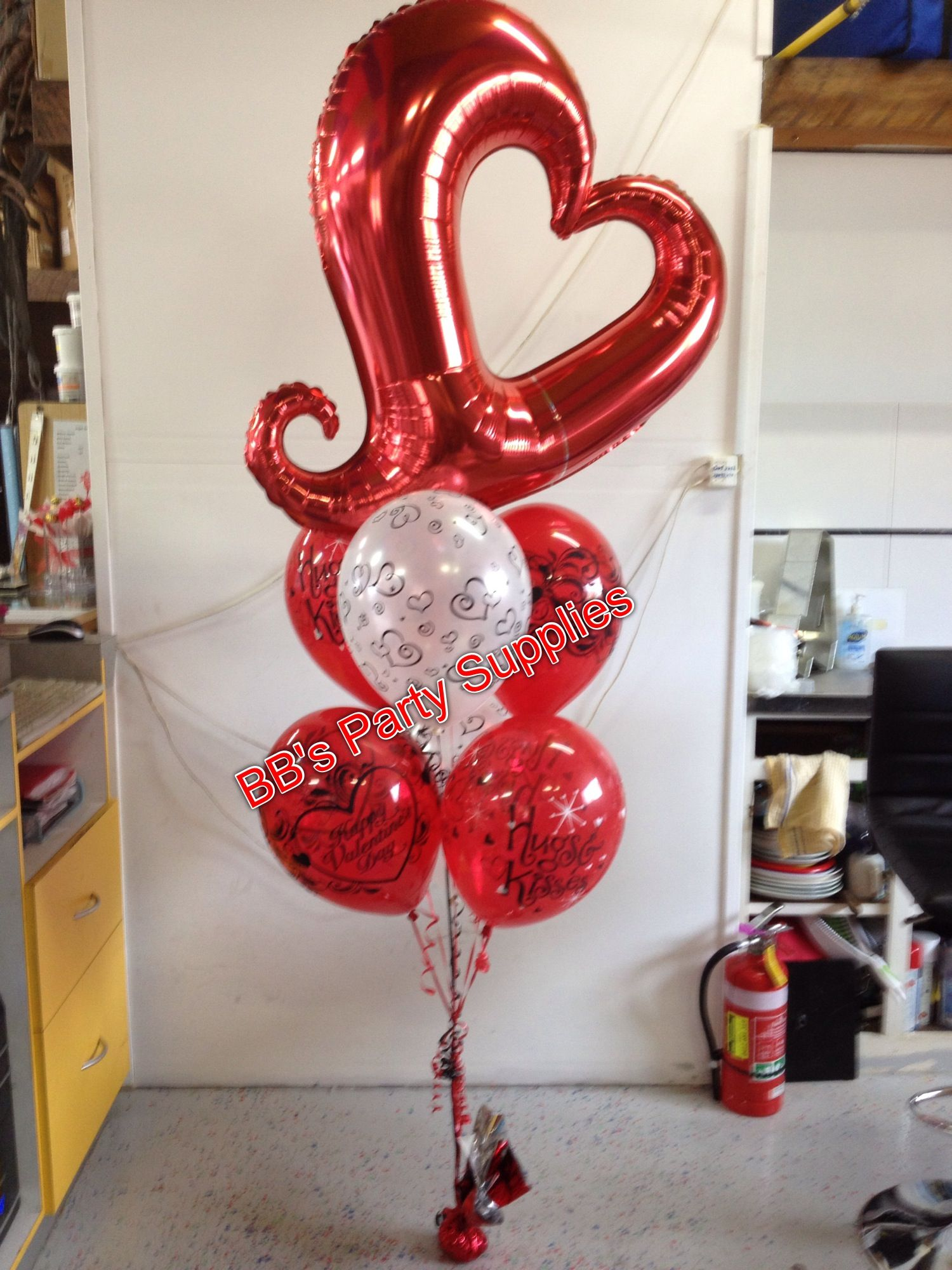 Heart Mylar Balloon | Mylar Mania | Pinterest | Globo, Arreglos con ...