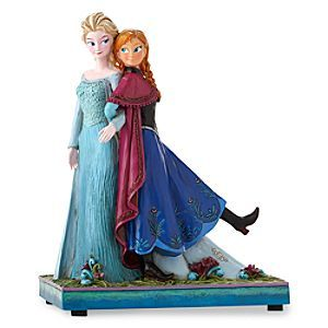Disney Anna and Elsa ''Sisters Forever'' Musical Figure by Jim Shore | Disney StoreAnna and Elsa ''Sisters Forever'' Musical Figure by Jim Shore - The devoted sisters Anna and Elsa show their affection for each other in this ''Sisters Forever'' Musical Figure by Jim Shore inspired by Disney's <i>Frozen</i>. Wind the key on the base to hear the movie's hit song <i>Let It Go</i>.