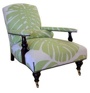 OKL Exclusive Edwardian Linen Palm Chairs
