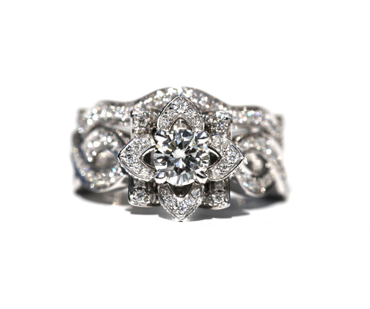 by beauty women rings flower unique ring for flowery diamond engagement rose jewelry blooming
