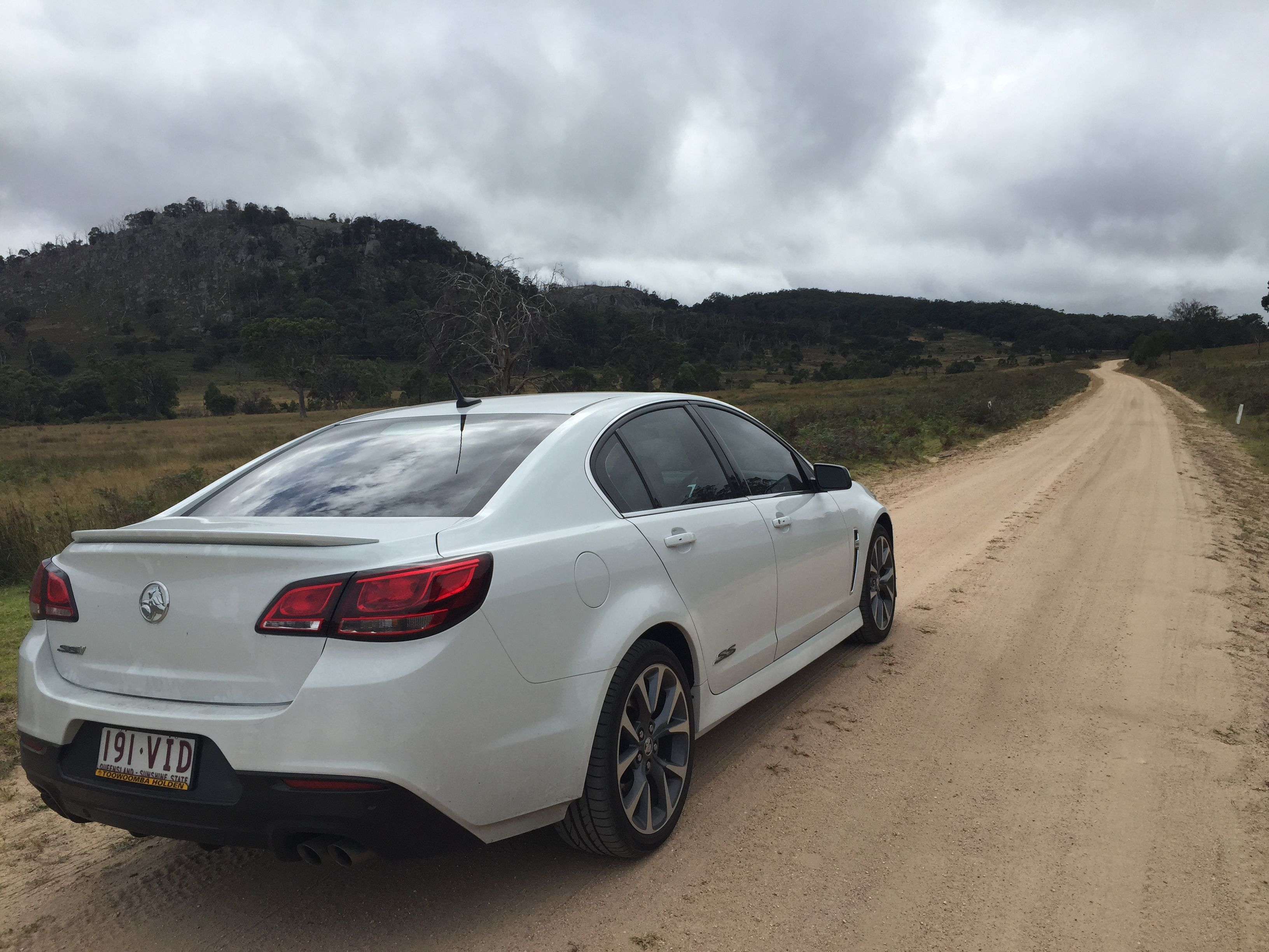 VF Commodore in country NSW