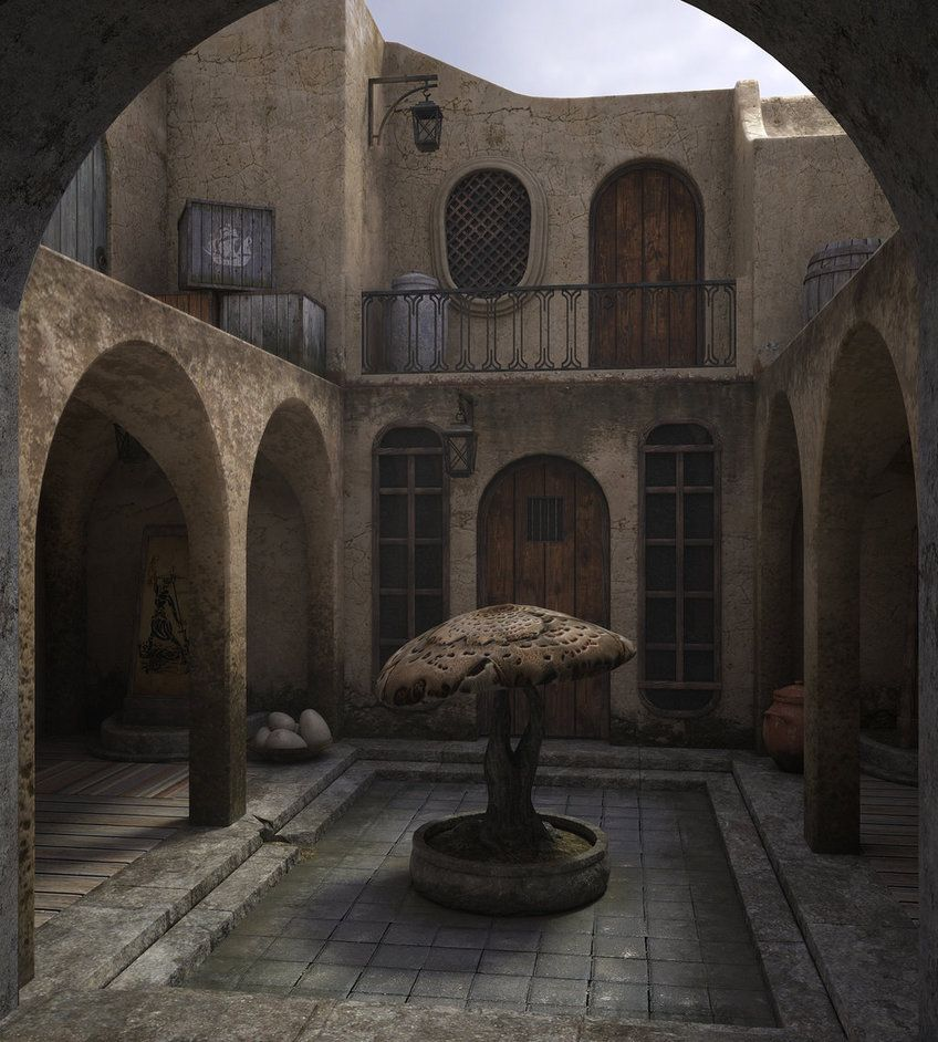 Balmora patio by Minomi9 on DeviantArt