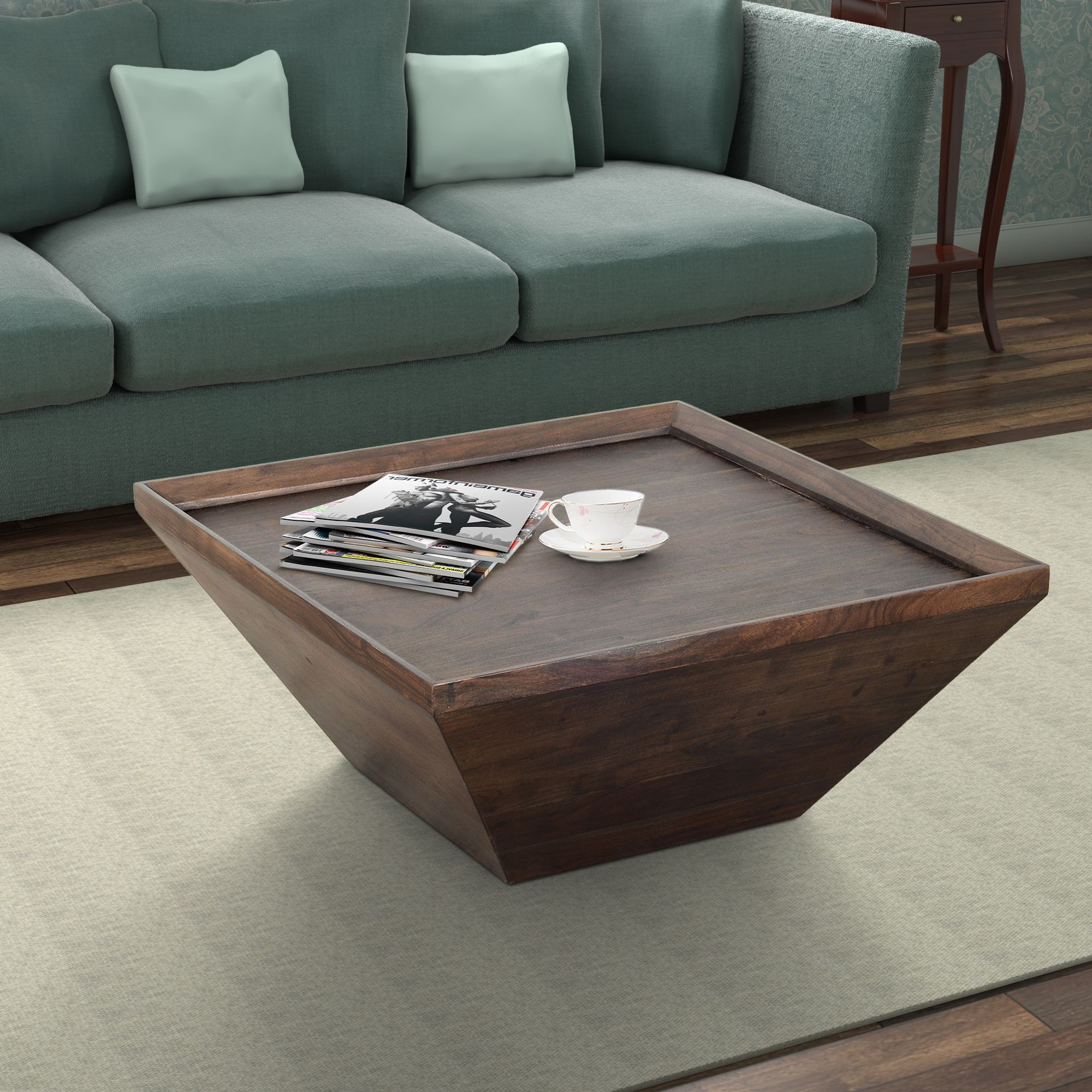 36 Inch Square Shape Acacia Wood Coffee Table With Trapezoid Base Brown Saltoro Sherpi In 2021 Square Wood Coffee Table Coffee Table Wood Handcrafted Coffee Table [ 2000 x 2000 Pixel ]