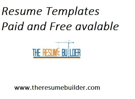 Using a resume template is the best way for you to create a - different resume templates