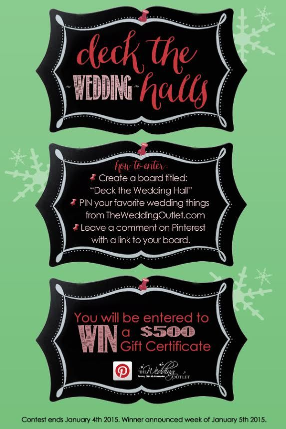 Pin Your Favorite Wedding Things From Weddingoutlet And Win A 500 Gift Certificate As Seen On Www Brendasweddingbl Wedding Outlet Wedding Wedding Contests