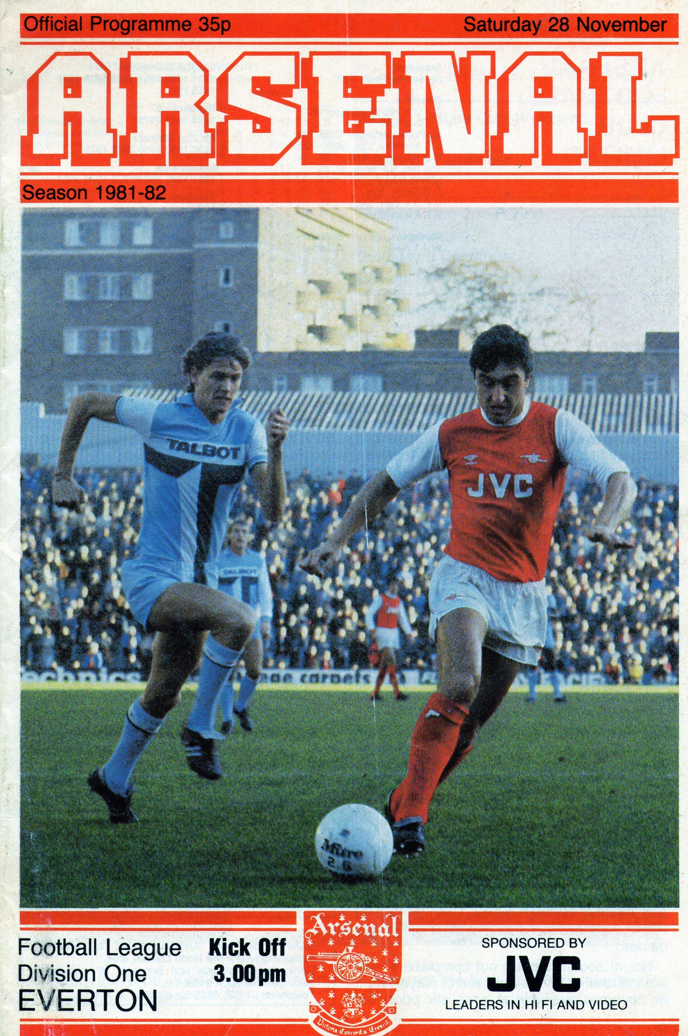 Arsenal v Everton 198182 Leeds united football