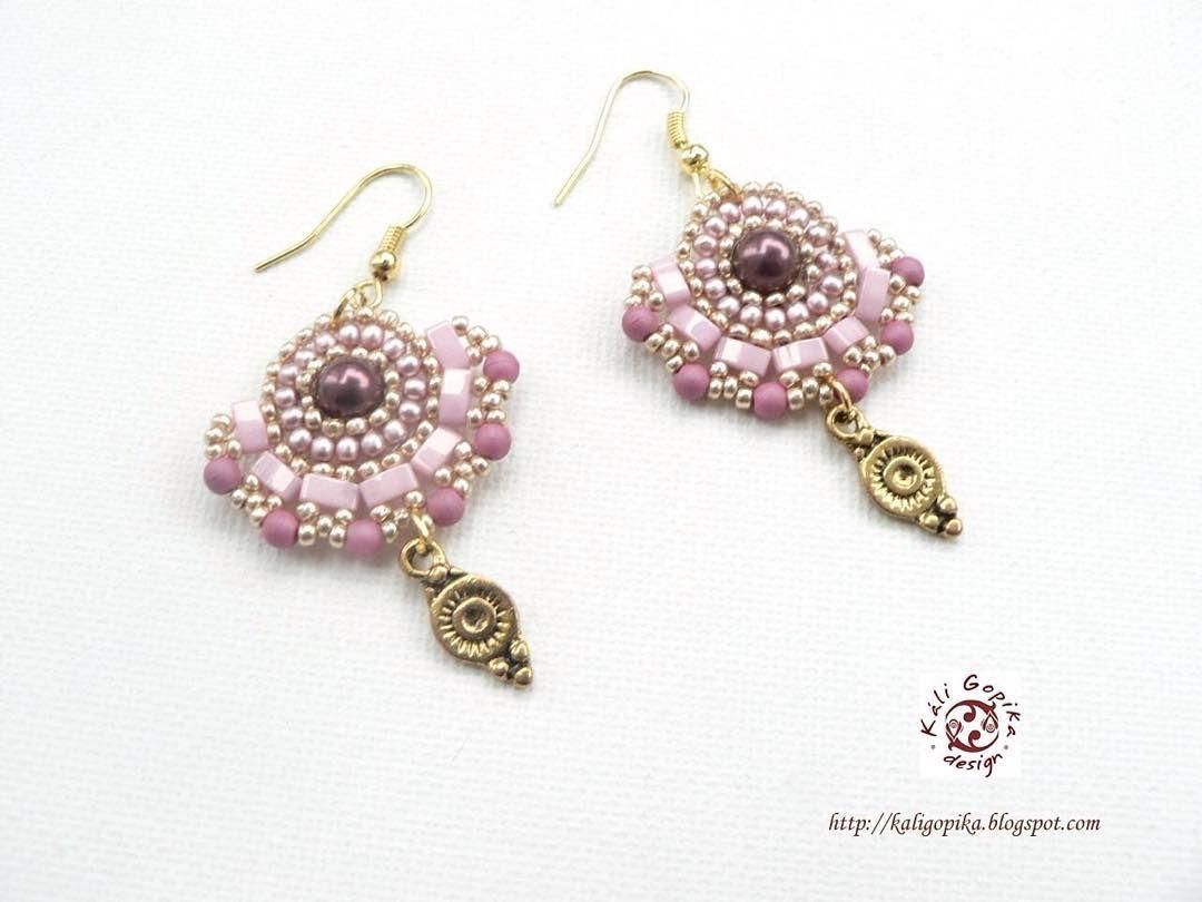 #accessories #fashion #kaligopika #beadwork #beading #earrings #handmade #handmadejewelry