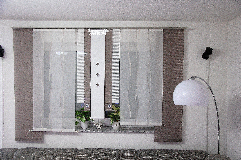 Moderne Schiebegardinen in 2019 | Gardinen wohnzimmer modern ...