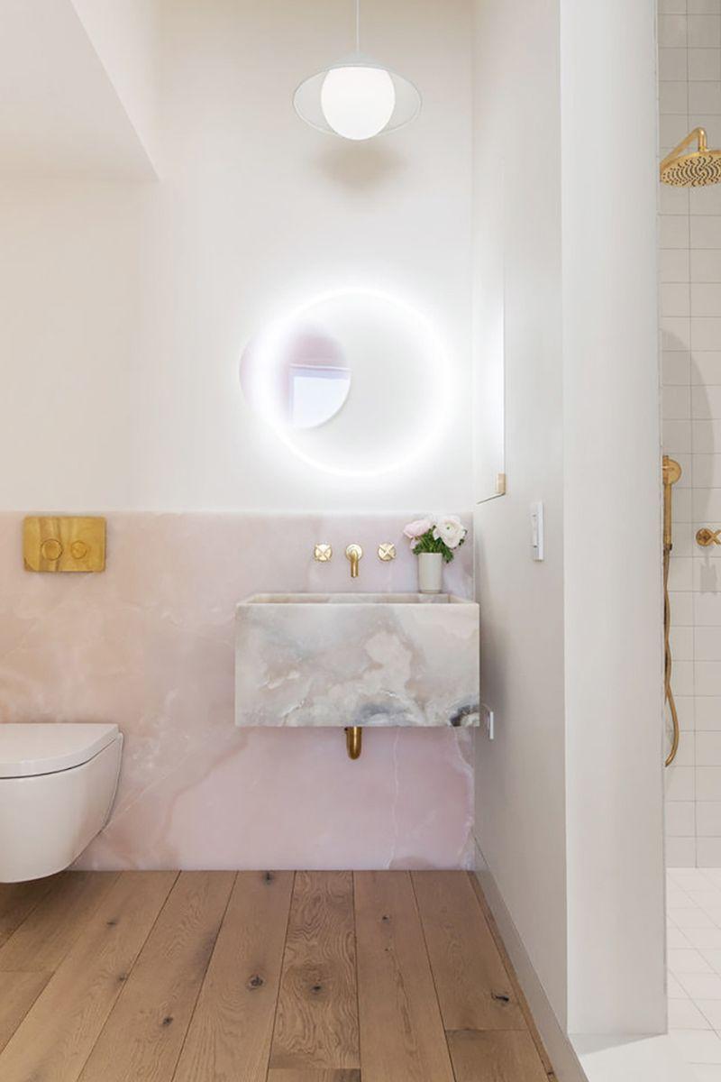 Pink Marble Ideas Pretty Enough To Make You Blush Mydomaine Bathroom Interior Bathroom Interior Design Bathroom Design