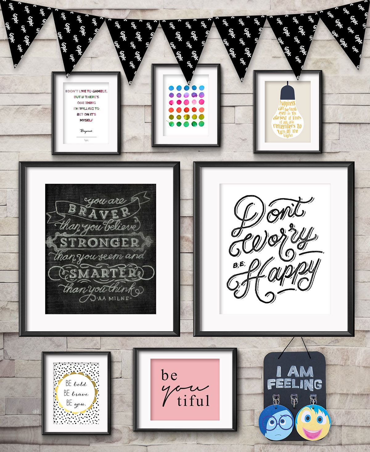 Inspirational Gallery Wall for Kids | Gallery wall, Free printables ...