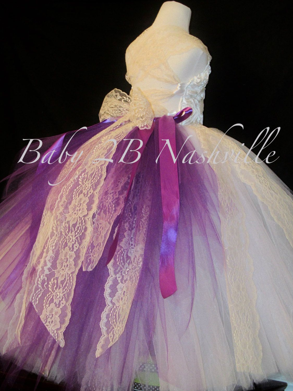 Lace Flower Girl Dress Tutu Flower Girl Dress by Baby2BNashville ...