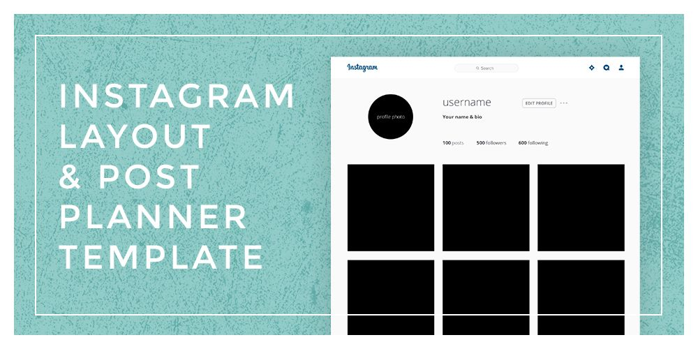 Instagram Layout \ Post Planner Template Planner template, Free - basic p amp amp l template