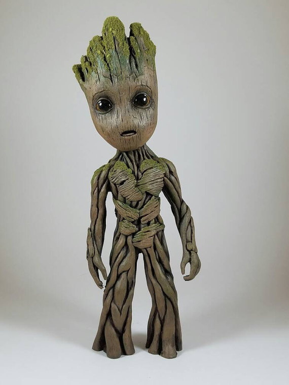 custom resin baby groot figure guardians of the galaxy
