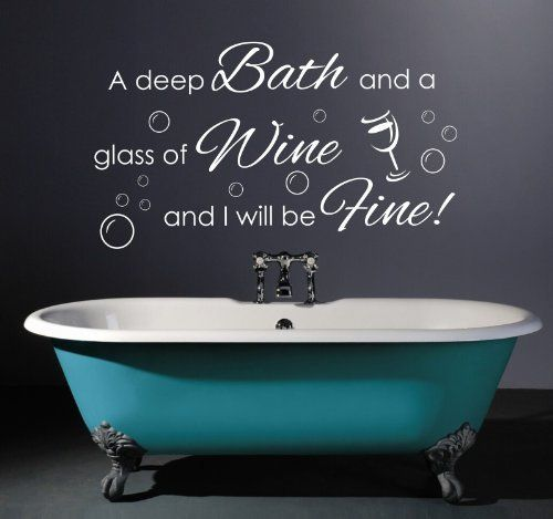 Soak Relax Enjoy Bathroom DIY Stickers Removable Wall Decal Household Perfect UK
