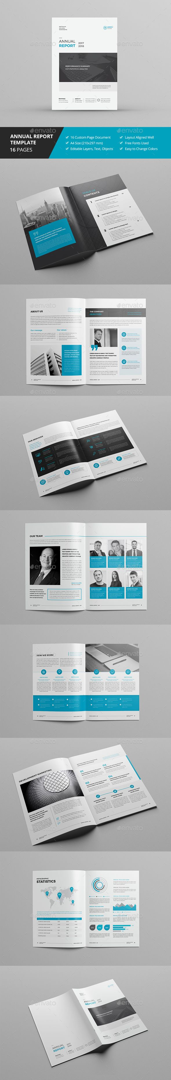 Annual Report 16 Pages   Annual reports, Brochures and Brochure template