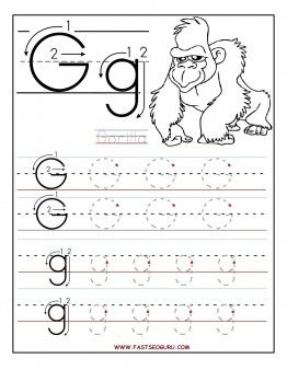 Printable Letter G Tracing Worksheets For Preschool   Printable Coloring  Pages For Kids