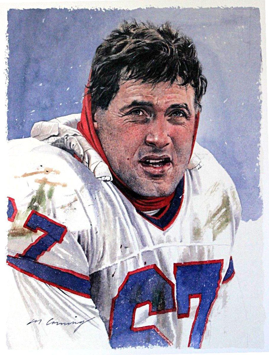 Kent Hull, Buffalo Bills by Merv Corning Bills football