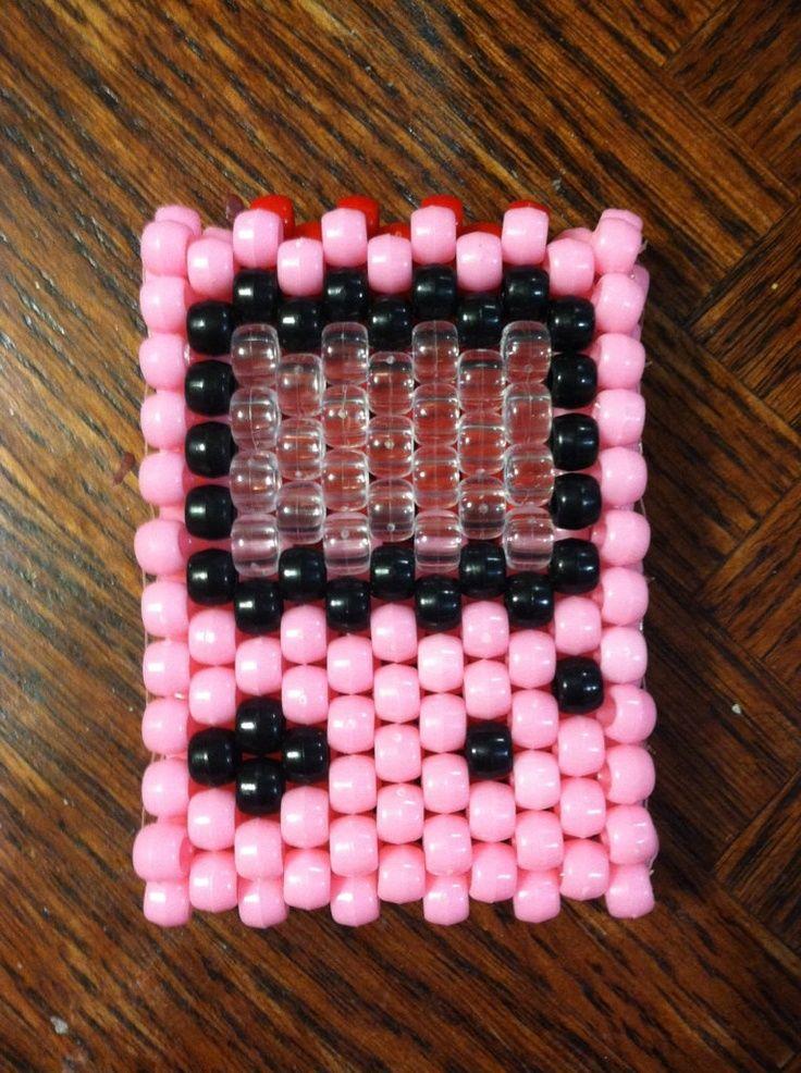 Pink Heart 3D Gameboy Advance Kandi Rave PLUR Toy by GotKandi