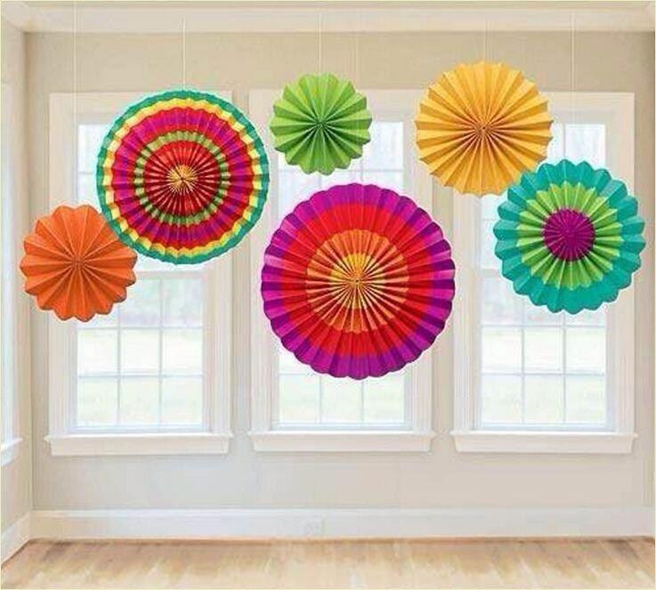 51 Creatives Colorful Paper Decor Craft Ideas Paper Fan
