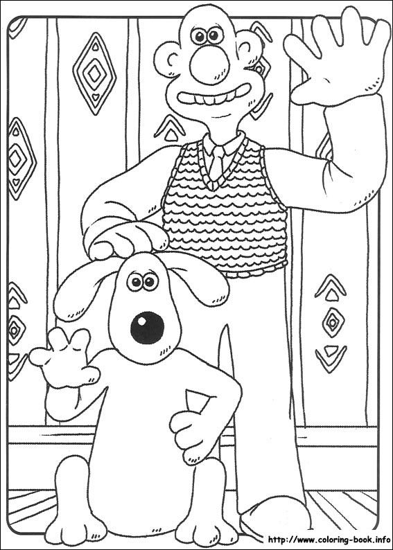 Wallace and Gromit coloring picture | random & nerd stuff | Pinterest