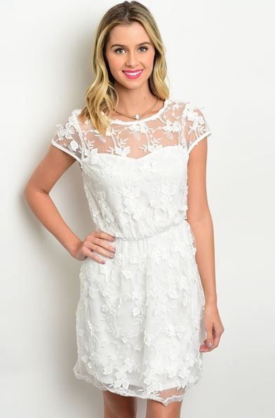 Mariah Off White Lace Dress
