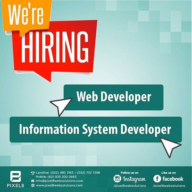 Pixel Web Solutions  Consultancy Inc Is Hiring Please Visit