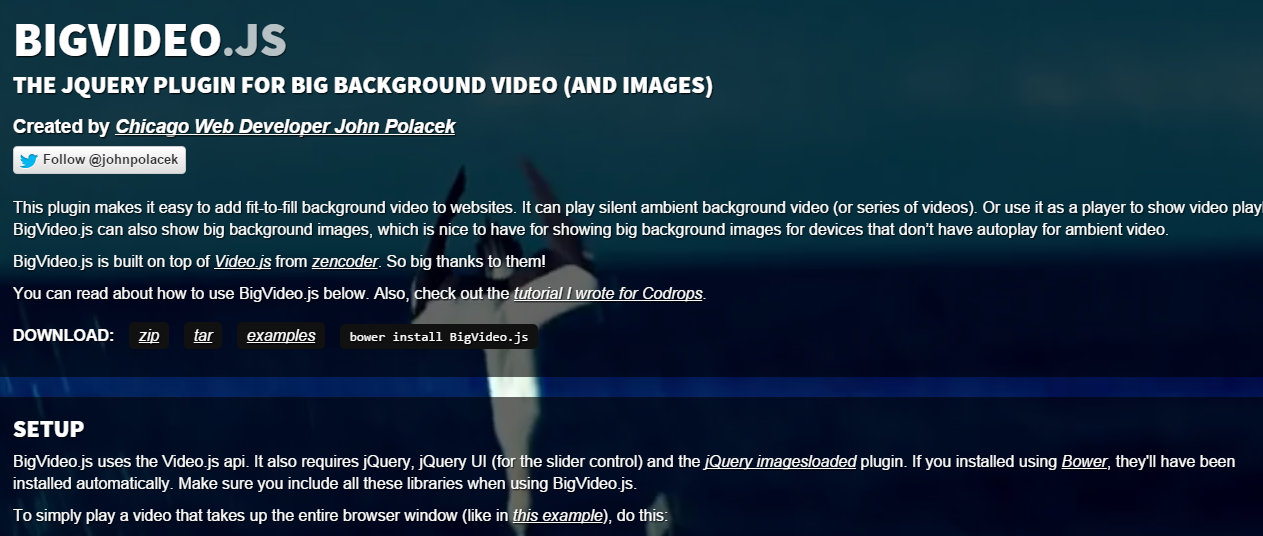 15 Best Video jQuery Plugins For Web Developers | Best Video