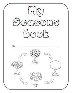 Seasons Book Freebie Kindergarten Books Seasons Kindergarten