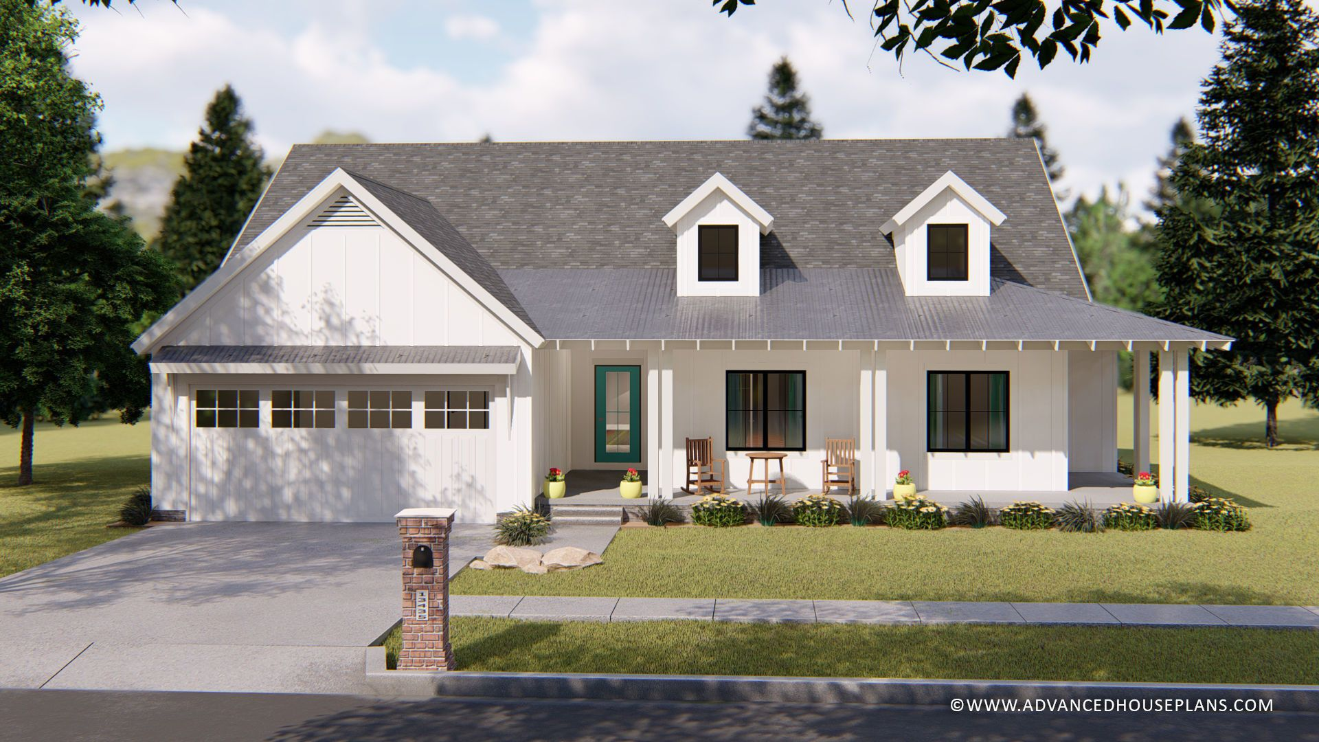 One Story Modern Farmhouse Fitzgerald Modern Farmhouse Plans Farmhouse House House Plans Farmhouse