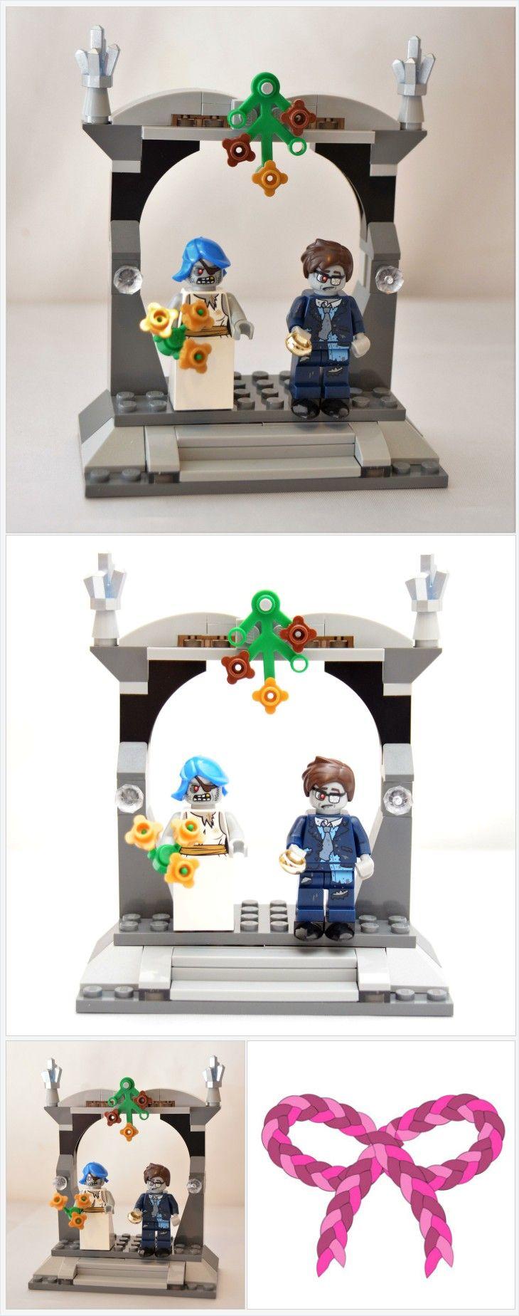 Custom Zombie Lego Minifigure Wedding Favors Bridal Cake Topper Favor