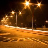Monochromatic Light Street Lights At Night City Aesthetic Street Light