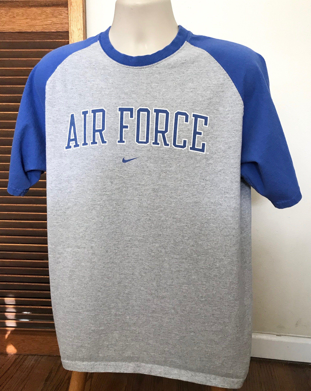Nike Air Force Vintage T shirt Short Sleeved Raglan T
