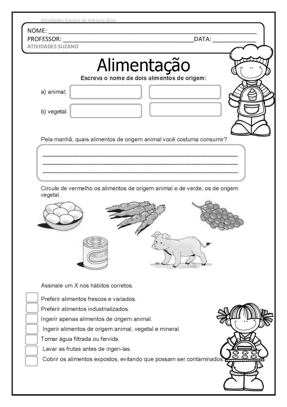 Ciências alimentação e animais para casa EM PDF | nanda | Pinterest