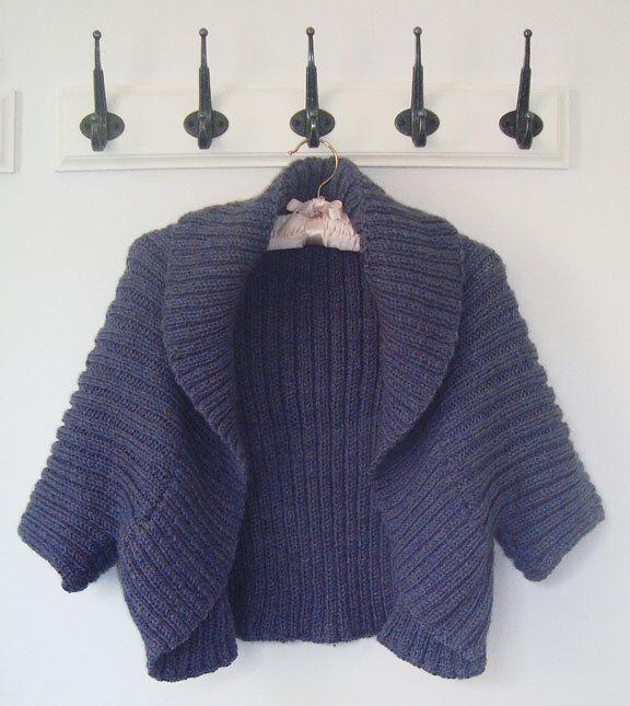 Knitting Pattern Easy Shrug Ad Knit In One Piece Using Aran Yarn