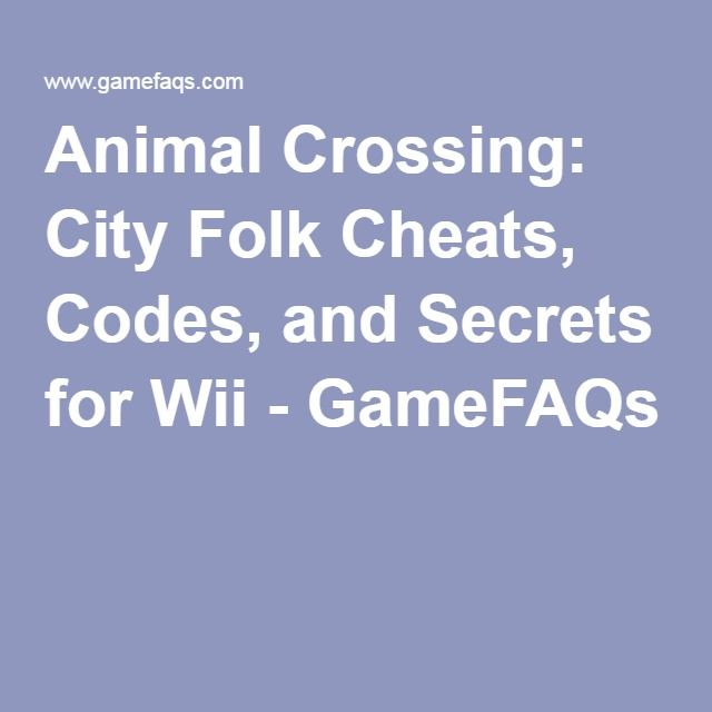 Animal Crossing City Folk Cheats Codes And Secrets For