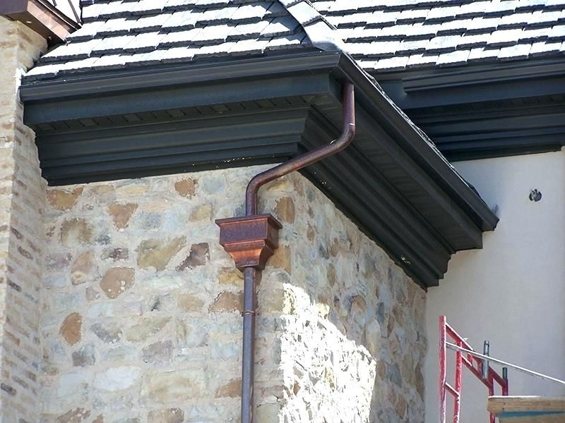 Rain Gutter Alternatives Decorative Gutters Glamorous Custom Copper Decorating Decorative Gutters Gutter Colors Gutters Downspout