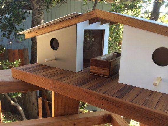 Mid Century Modern Eichler Birdhouse Bird Feeder