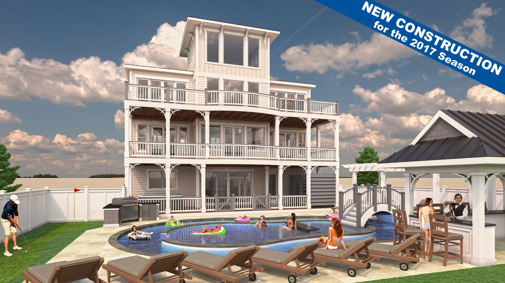 week outer banks southern with rentals realty pool cottages per shores tables