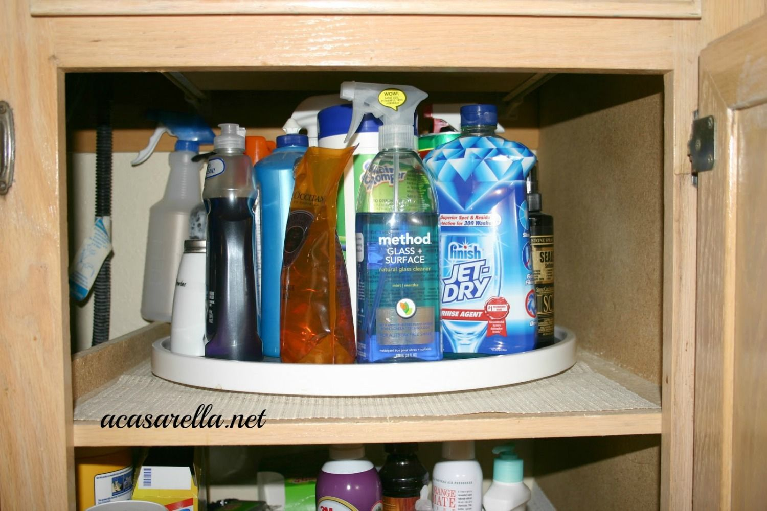 15 Inspired Ways To Store Your Cleaning Products Under Kitchen Sink Storage Kitchen Sink Storage Sink Storage