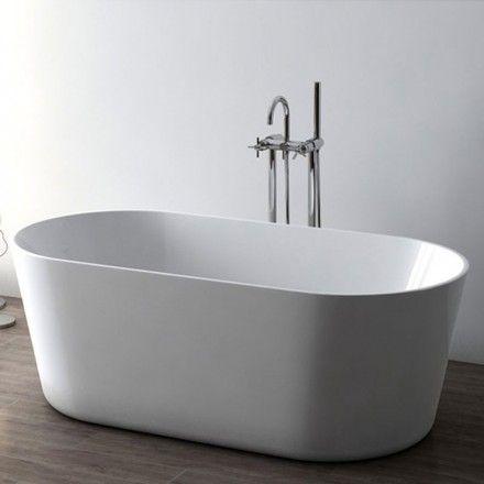 baignoire ilot ovale 158x74 cm petite dimension acrylique lemnos salle de bain pinterest. Black Bedroom Furniture Sets. Home Design Ideas