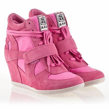 Womens wedge sneakers, Pink sneakers